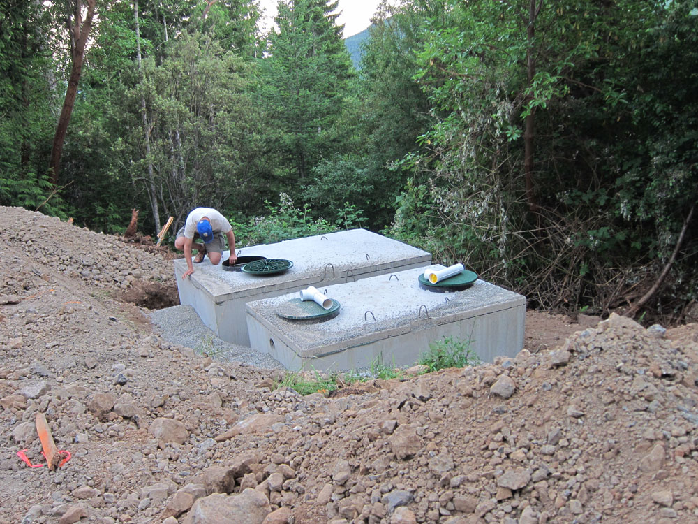 Robert, checking out the septic tanks.