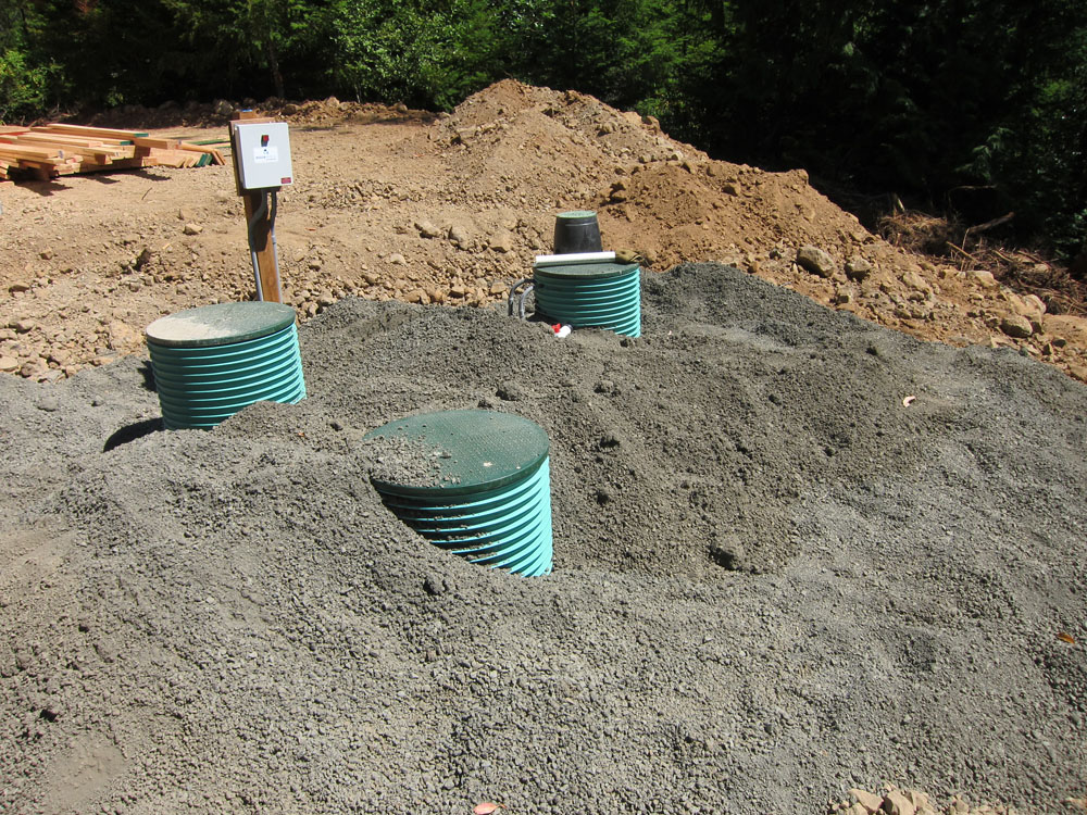 Septic tanks are buried.